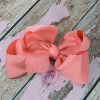 "6"" Boutique Bow On Croc Clip ~ Watermelon"