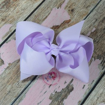 "6"" Boutique Bow On Croc Clip ~ Light Orchid"
