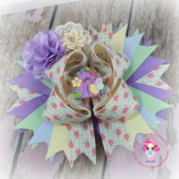 Easter Bunny Door Pagent Bow on Croc Clip