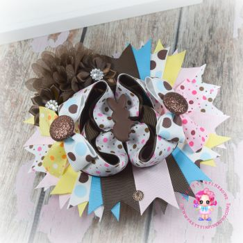 Easter Eggable Pagent Bow On Croc Clip