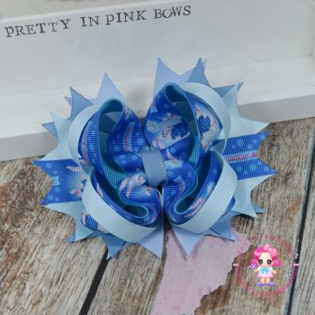 Easter Blue Bunny Princess Bow On Croc Clip
