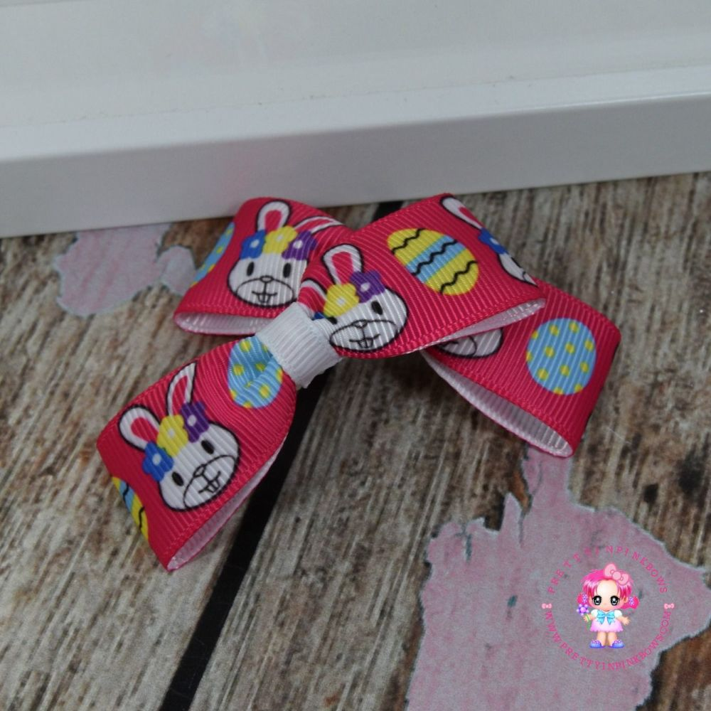 Easter Minnie Bows On Croc Clips