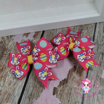Easter Pinwheel Bows On Croc Clips