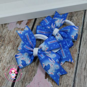 Easter Pinwheel Bows On Bobbles