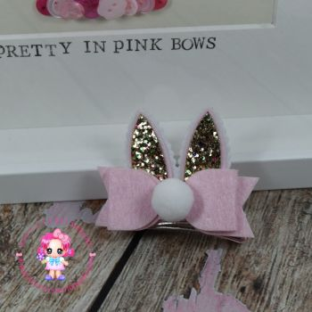 Easter Bunny Ears On Croc Clip in Pink
