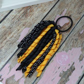 Long Korker Black, Yellow and Black and White Polkadot