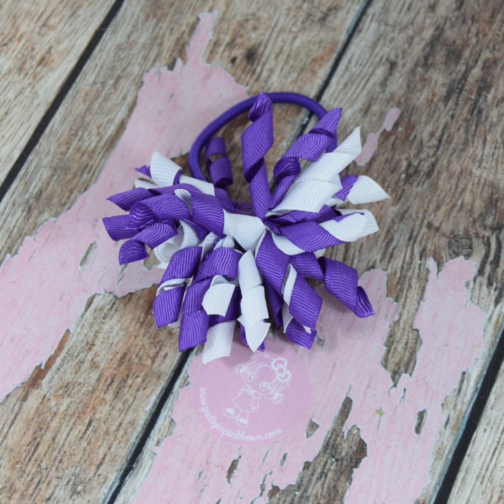 Short Korker - Purple and White