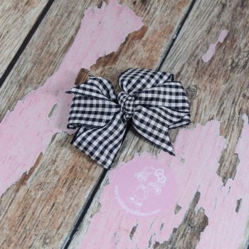 Pinwheel Bow - Navy ( Dark) on Croc Clip