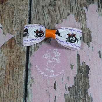 Minnie Bow Spiders On croc clip