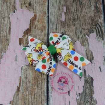 Pinwheel Bow Children In Need On Croc Clips