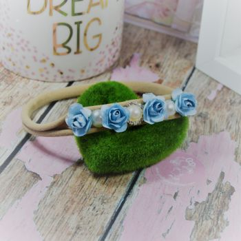 Flower and large pearl baby band