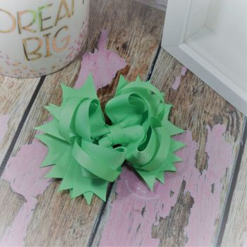 "4.5"" Plain Princess Bow ~ Mint"