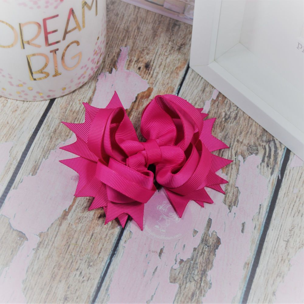 "4.5"" Plain Princess Bow ~ Azalea"
