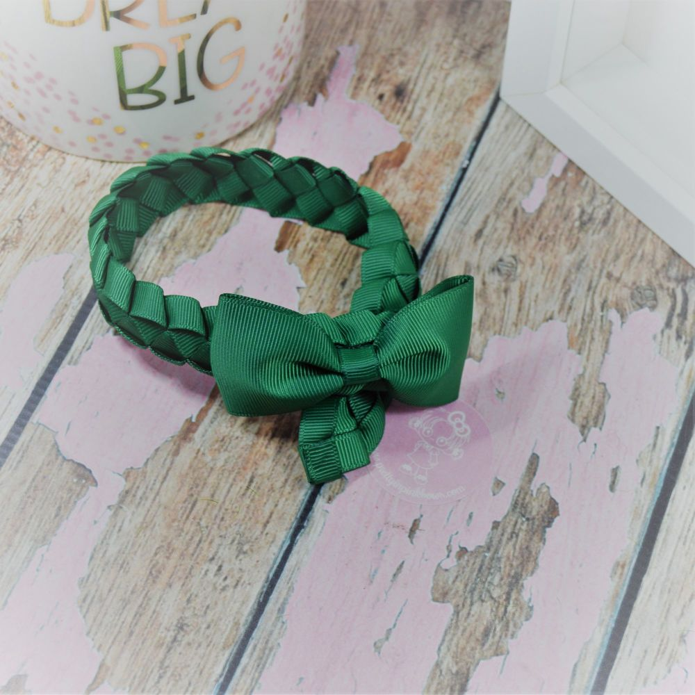 Medium Bun Wrap in Forrest Green ~ Minnie Bow