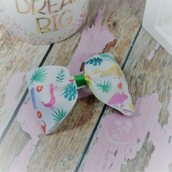 Large Minnie Bow Dinosars On Croc Clip