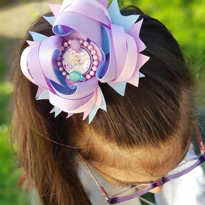 Birthday Bow Princess Bow (Custom)