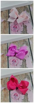 "3"" Boutique Bow Icy Pink, Rose Bloom, Shocking Pink"