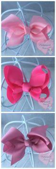 "3"" Boutique Bows Light Pink, Hot Pink, Quarts"