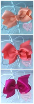 "3"" Boutique Bow Moonstone Watermelon Beauty"