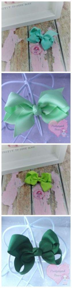 "3"" Boutique Bow Tropic pastel lime forrest"