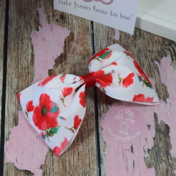 Large Minnie Bows Poppies