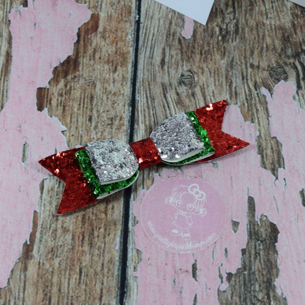 Fabric Glitter Double Bowties