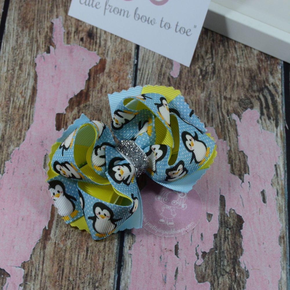Fairy Style Bow Xmas Penguins