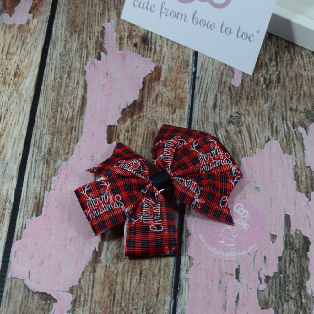 Tartan Pinwheels Merry Christmas