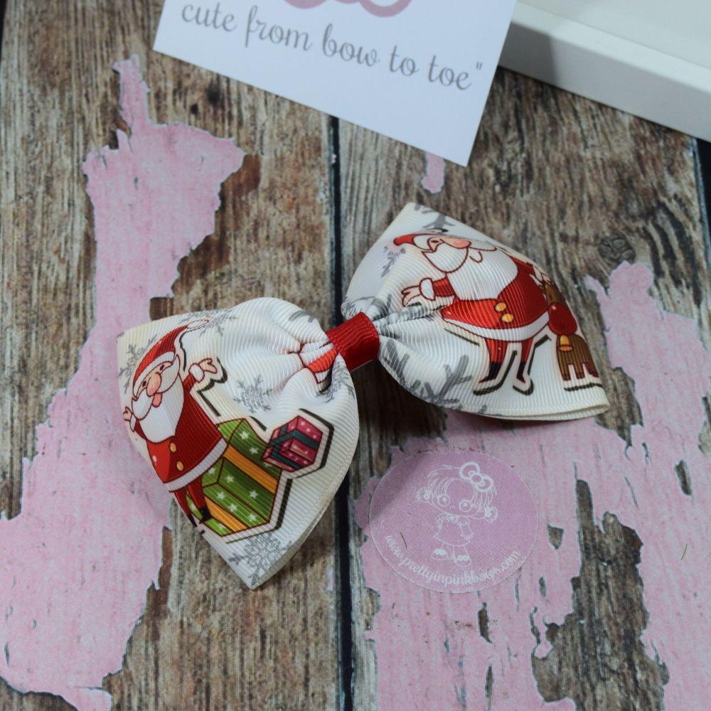 Large Minnie Box Xmas Santa