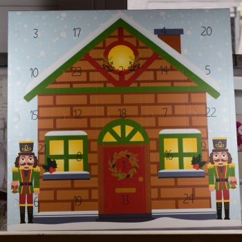 Large Advent Calender With Nutcracker