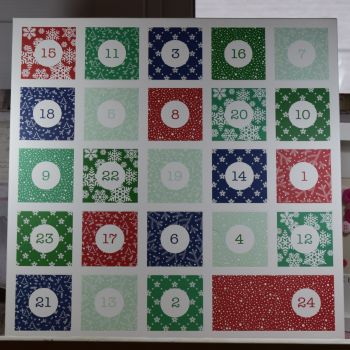 Large Advent Calender With Winter pattern