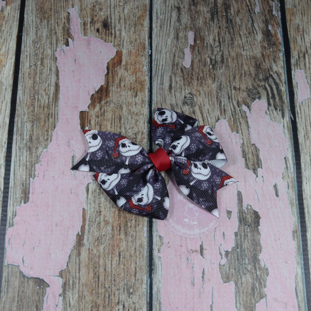 Dark The Night Before Christmas Pinwheel Bow
