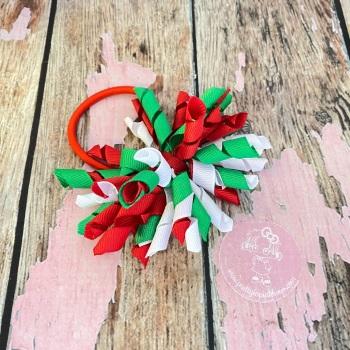 Short Korker Christmas Green, Red and white