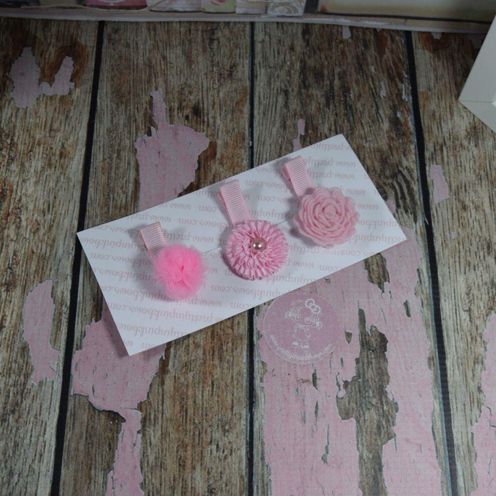 My First Clippie Set - Baby Pink