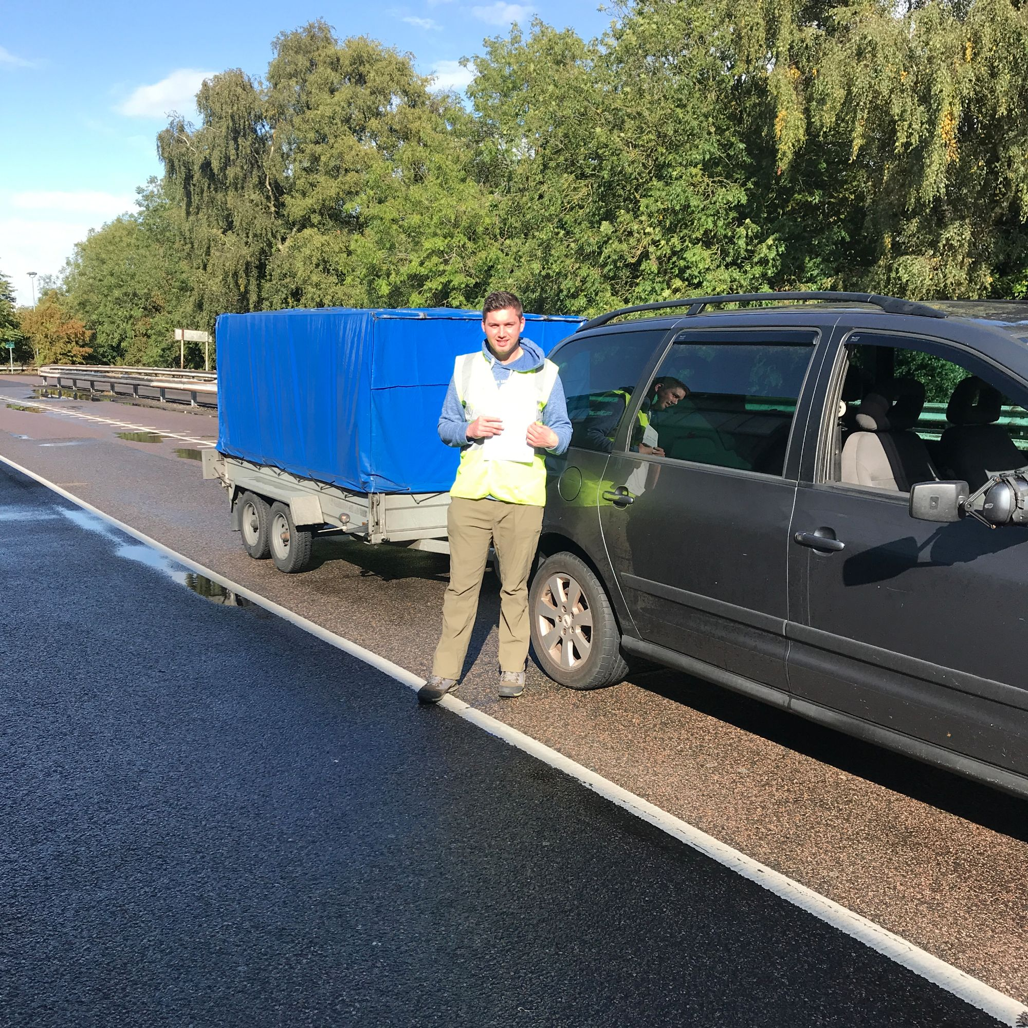 Haydn who passed his BE trailer towing test in Gillingham Kent