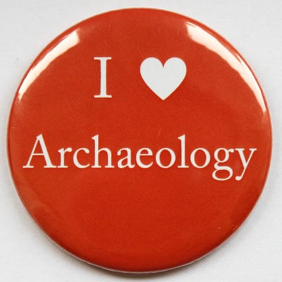 I Love Archaeology Fridge Magnet