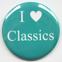I Love Classics Fridge Magnet