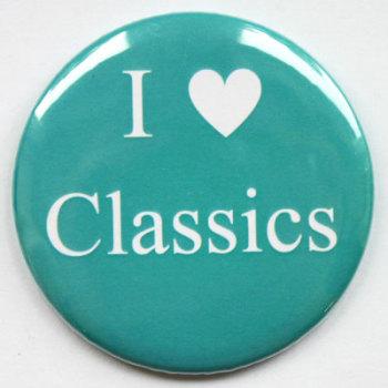 I Love Classics Fridge Magnet