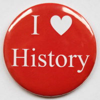 I Love History Fridge Magnet