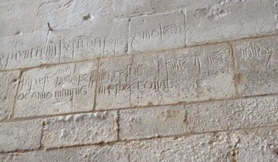 Ashwell church graffiti