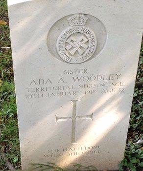 Ada Woodley - Littlebury churchyard