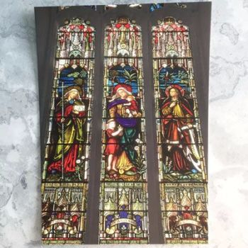 Stained Glass Window - Faith, Hope and Charity