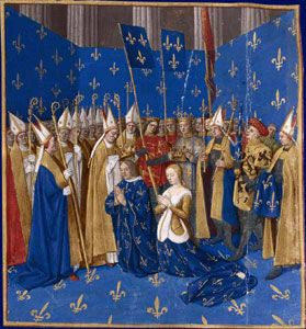 Blanche of Castile coronation