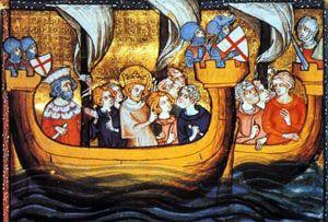 Louis IX on crusade