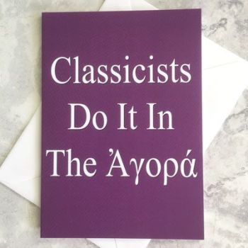 Classicists Do It In The Agora
