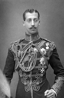 Prince Albert Victor as a young man in military uniform