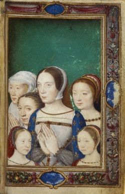 Posthumous portrait of Claude of France surrounded by women in her family.