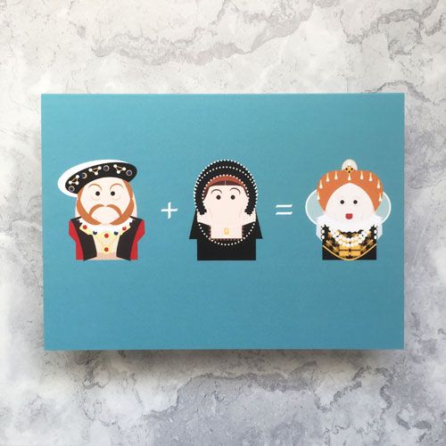 A horizontal greetings card with a light blue background. From left to righ