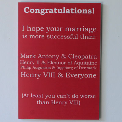 Successful Marriage History Greetings Card