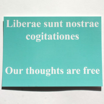 SALE- Our Thoughts Are Free